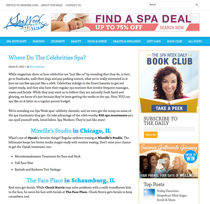 Spa Week Daily
